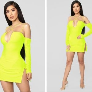 neon dress (fashion nova dupe)